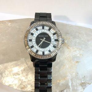 Michael Kors Black Baguette 39mm Watch
